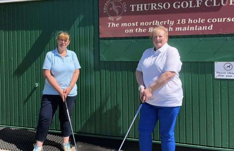 Thurso Golf Club ladies' captain Jean Sutherland (left) and vice-captain Lyndsey Stott at the start of the summer season.