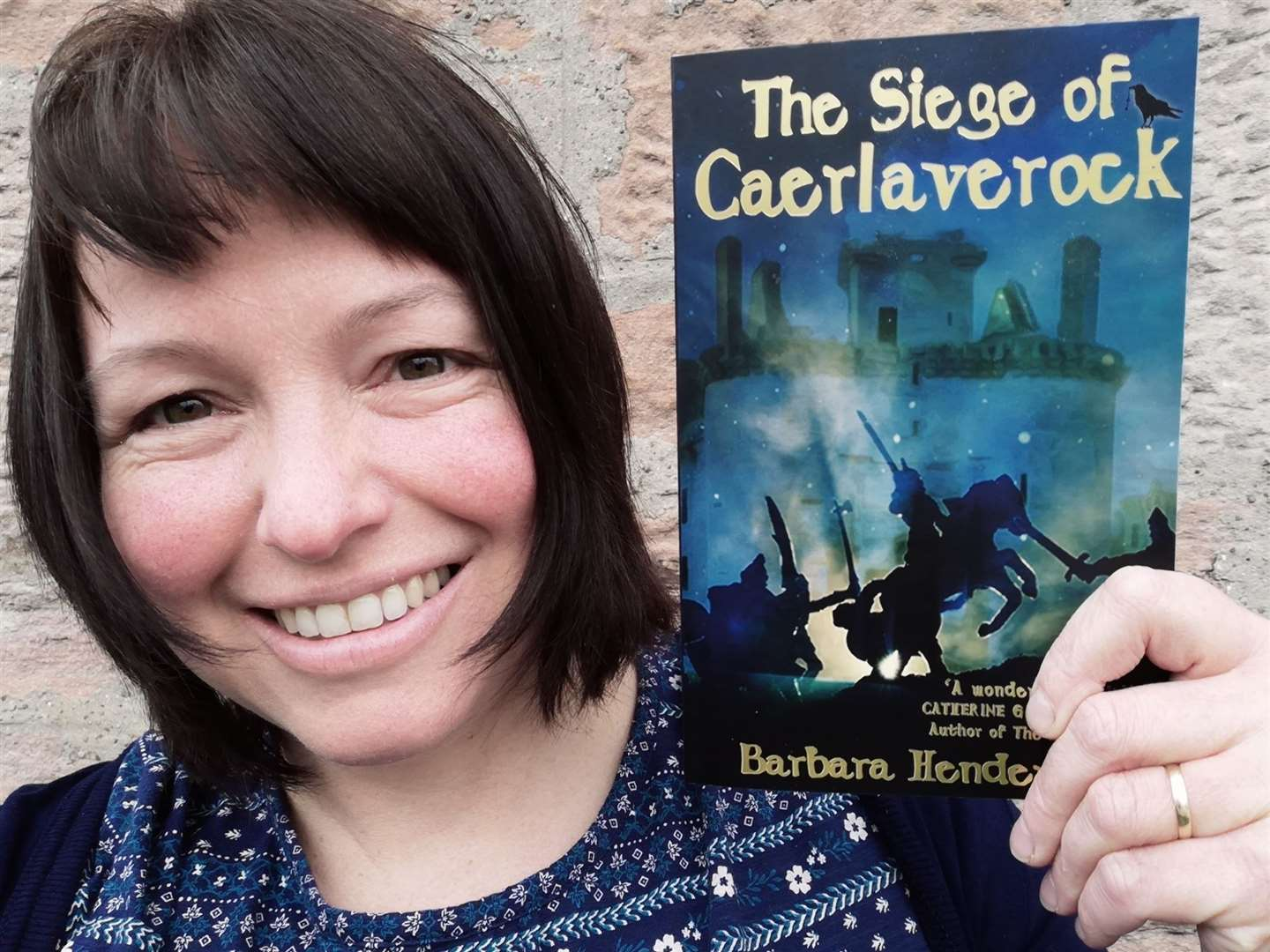 Barbara Henderson with her new book The Siege of Caerlaverock.