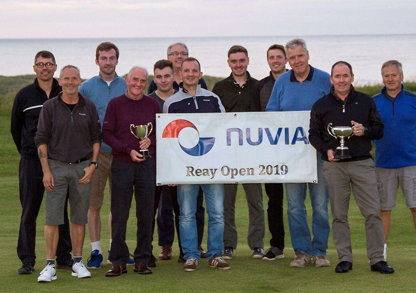 Some of the prize-winners from the annual Nuvia Reay Open.