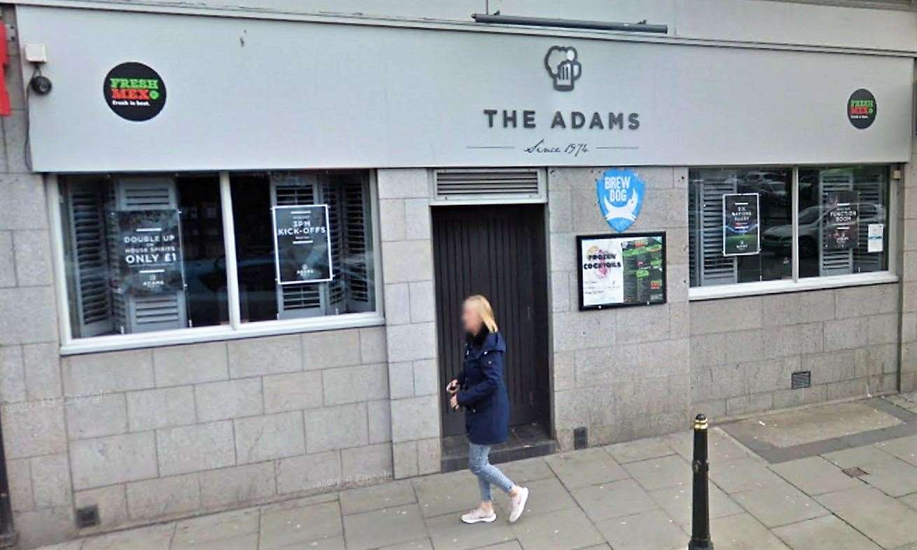 The Adams bar in Aberdeen which Mr Gunn visited.Picture: Google Street View
