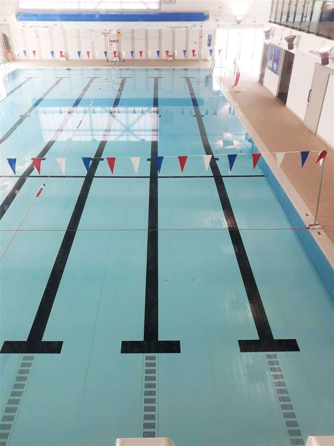 The swimming pool at the East Caithness Community Center at High Life Highland in Wick.