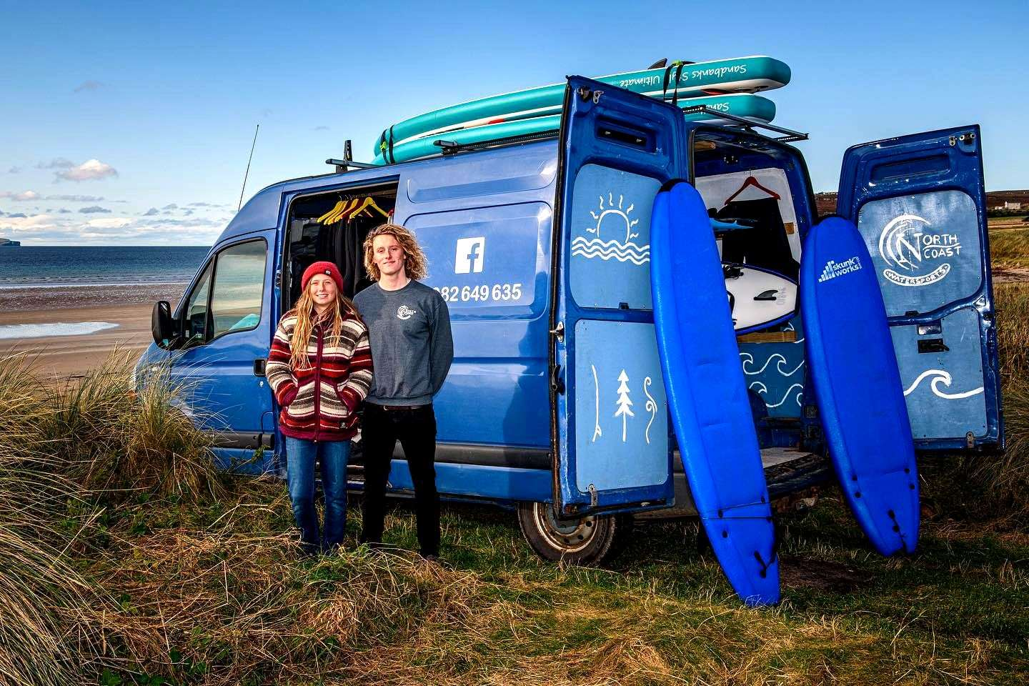 Iona McLachlan and Finn MacDonald of North Coast Watersports who will be providing the lessons for the Wave Water Wellness programme.