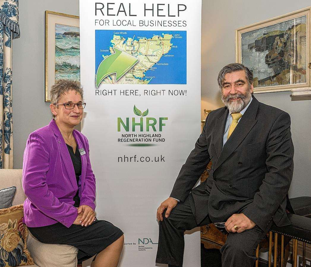 North Highland Regeneration Fund chairman Lord Thurso and Caithness Chamber of Commerce chief executive Trudy Morris at the launch of the new fund at the Castle of Mey.
