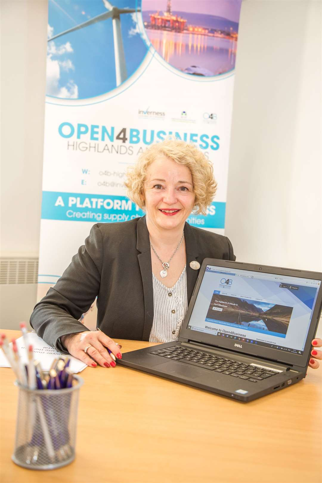 Sandra McCaughey, Inverness Chamber of Commerce's O4B programme manager.