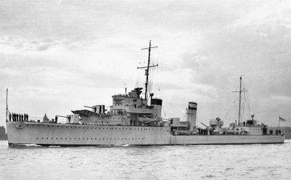 HMS Exmouth was sunk by a U-boat off Noss Head on January 21, 1940.