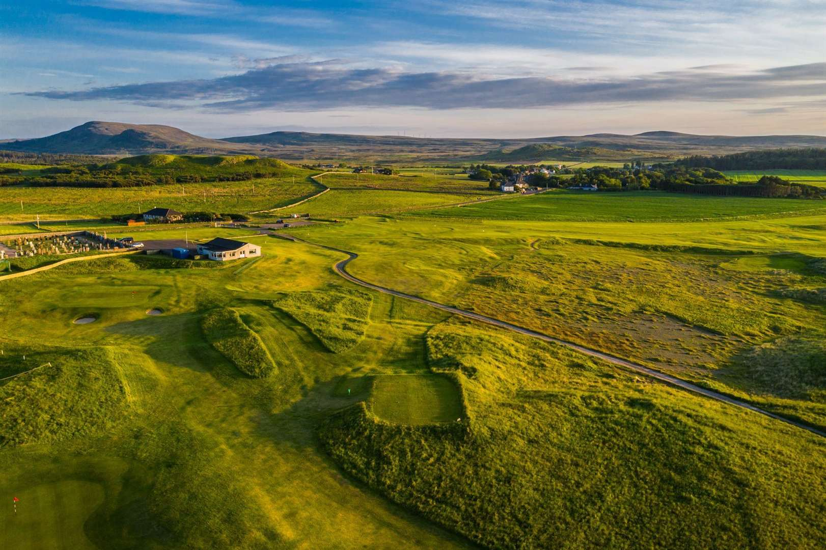 Aerial view of Reay golf course. Picture: Craig Macintosh / Highland Drones