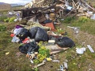 Rubbish left behind in Durness