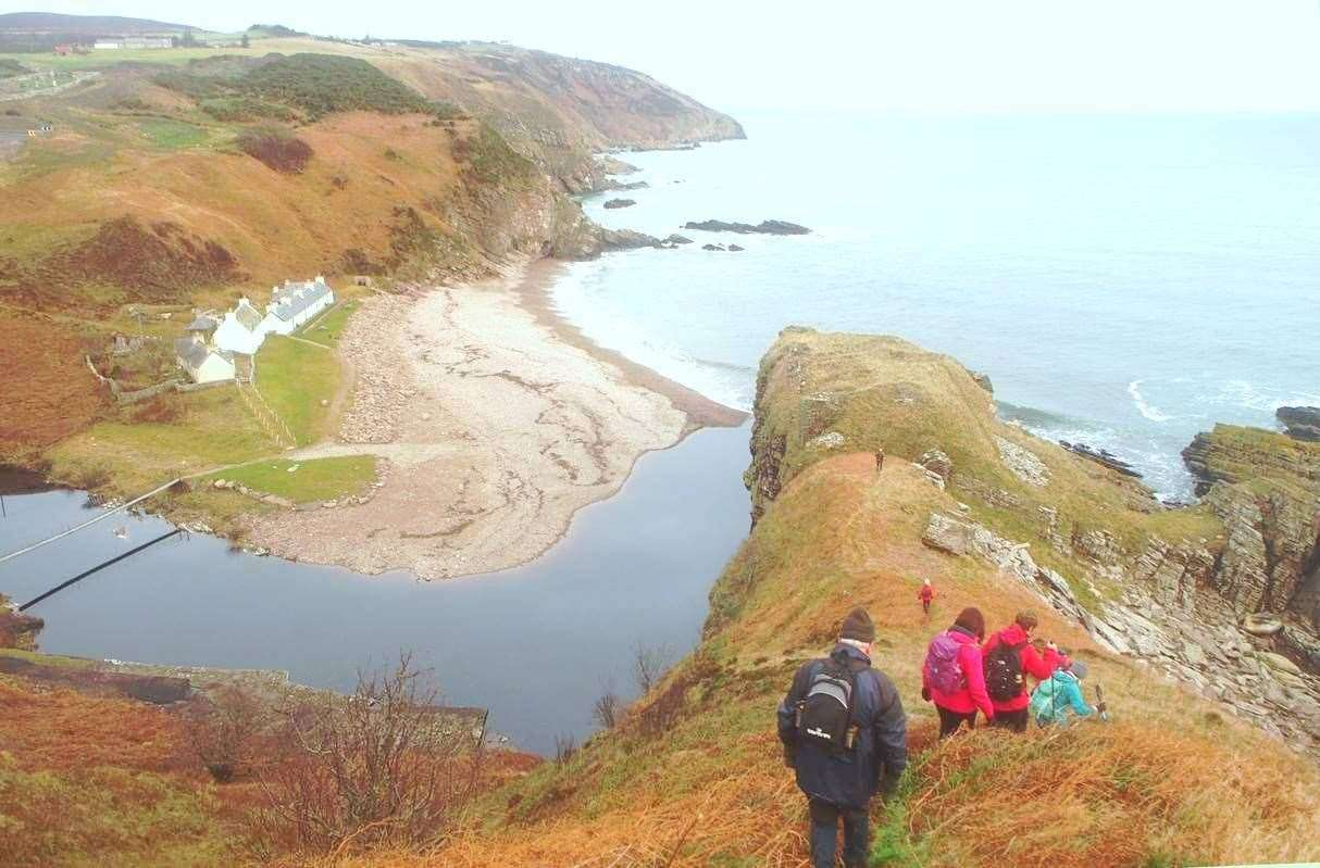 A walking route from Badbea to Berriedale. Photo: Jim Bunting