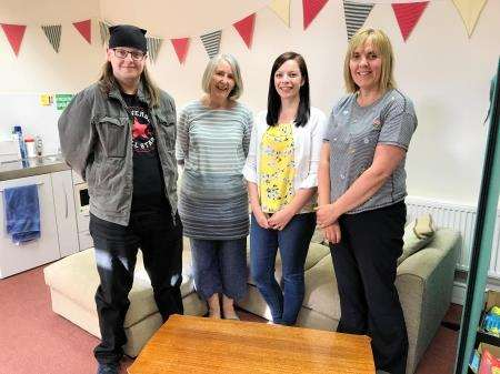 Befriending Caithness team members (from left) Steven Szyfelbain, Angie House, Kayleigh Sinclair and Elspeth Manson. Isobel Campbell (missing from photo) makes up the team.