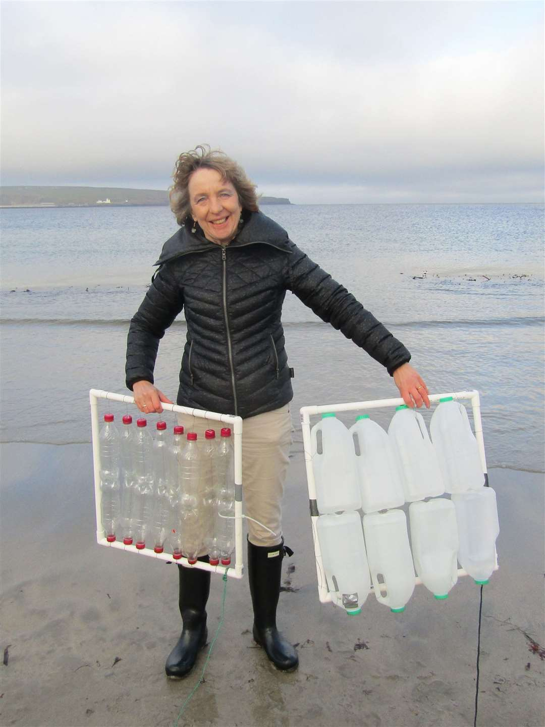 Research fellow Dr Lonneke Goddijn-Murphy is conducting surveys in the seas around Thurso.