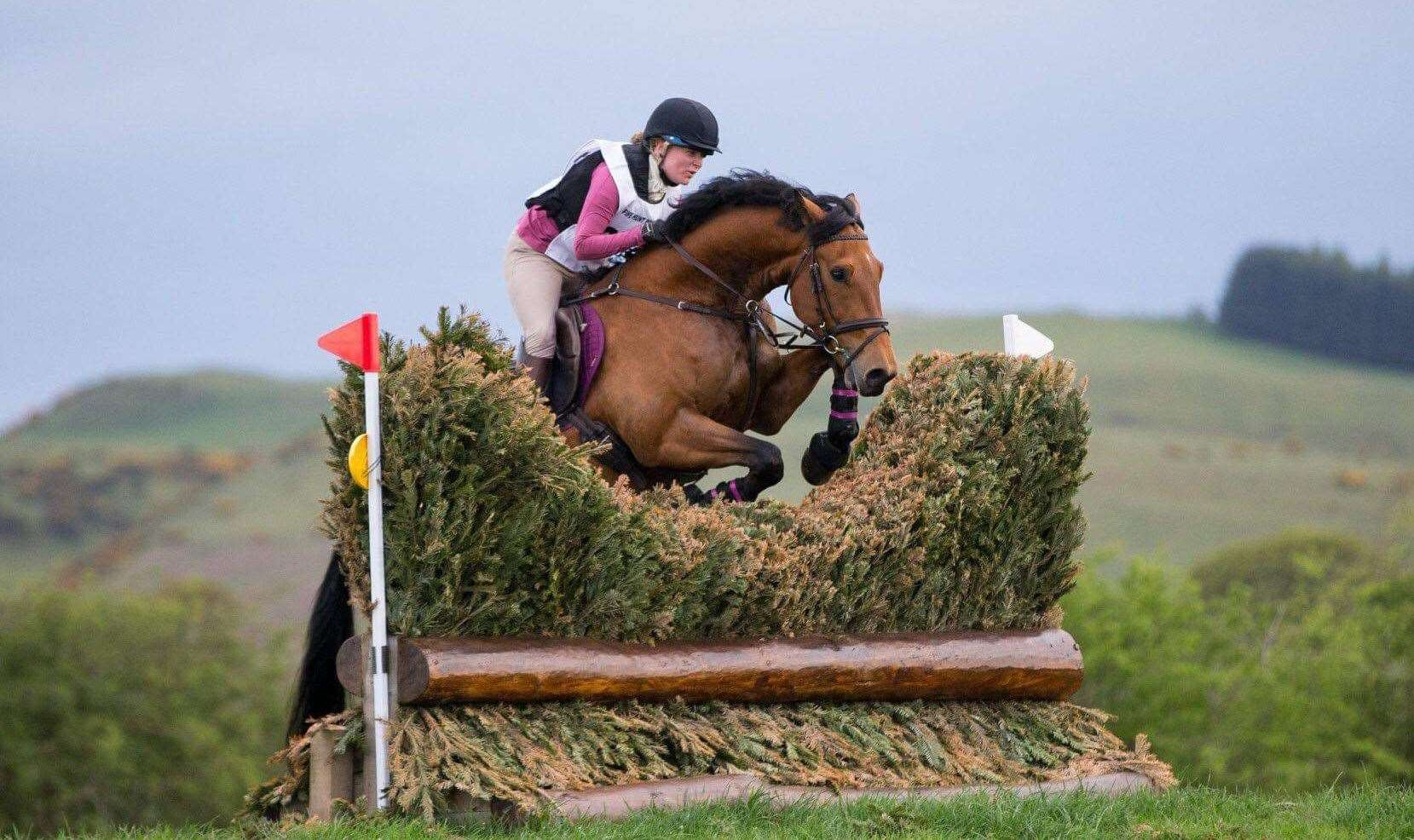 Emma Coghill and Rainbows Little Rock in action on the cross-country at Forgandenny during an open one-day event held by Fife Hunt branch of the Pony Club. The talented partnership came second in their first 110cm class together. Picture: Cheape Photography