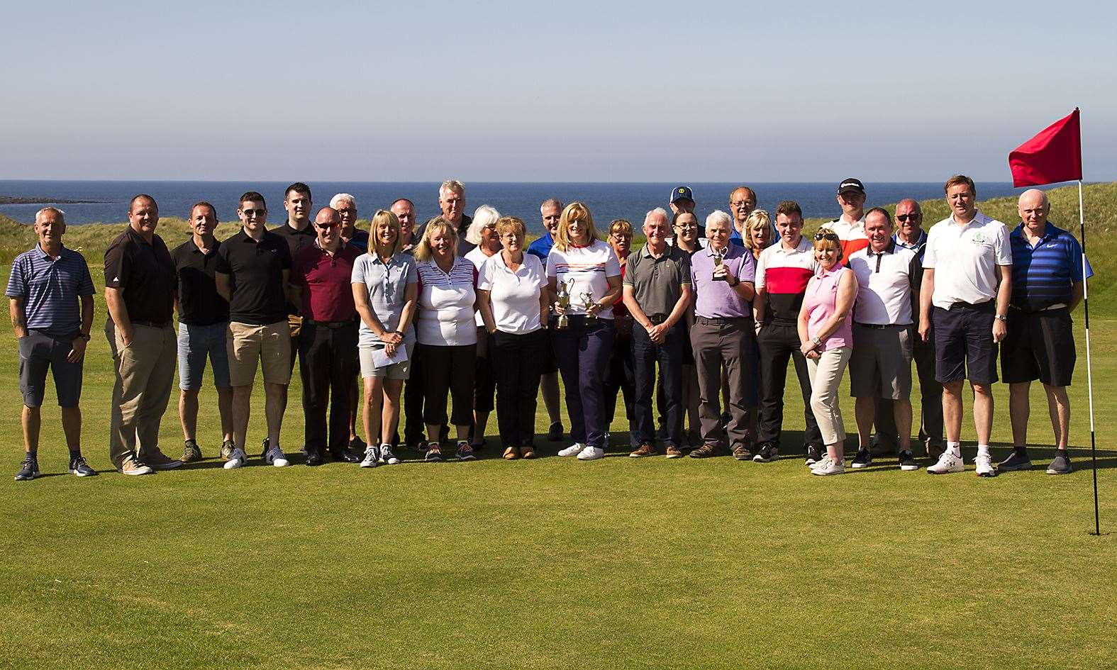 Some of the players who competed in the event in glorious conditions at Reay.