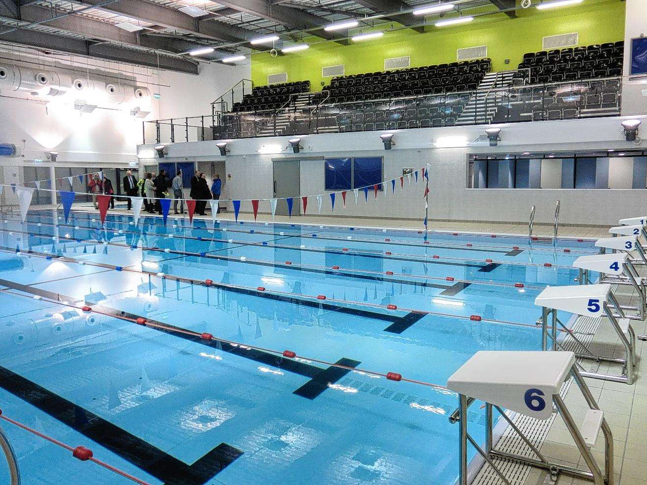 Wick Swimming Pool features six lanes with sauna and steam room facilities.