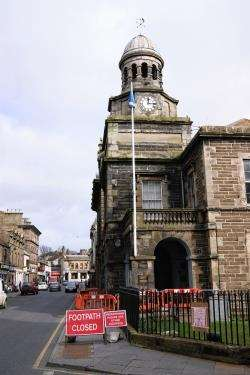 The railings at Wick Town Hall.