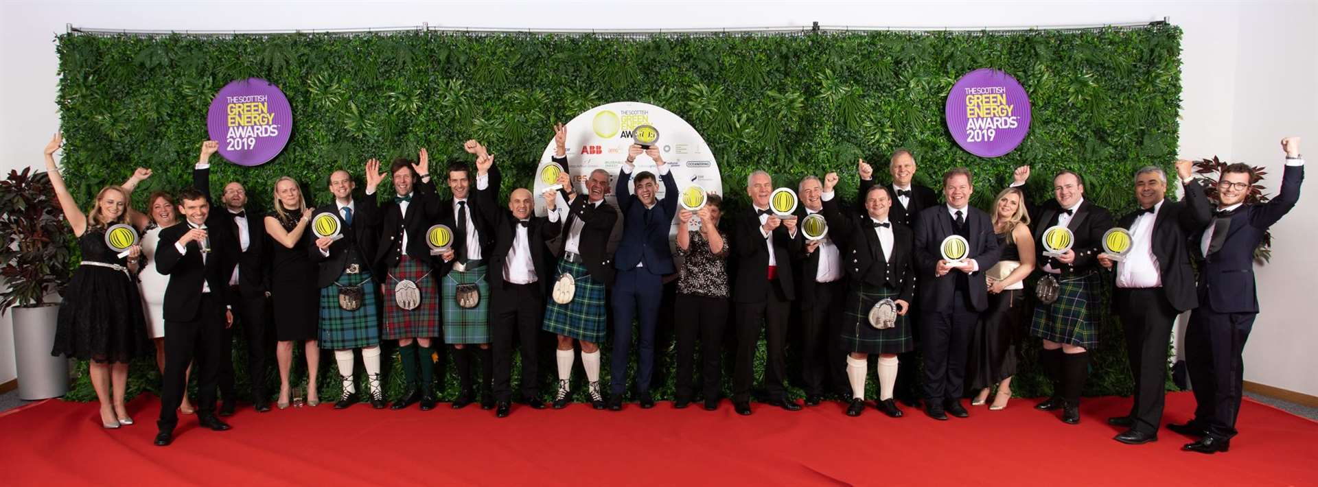 All the winners at the 2019 Scottish Green Energy Awards in Edinburgh.