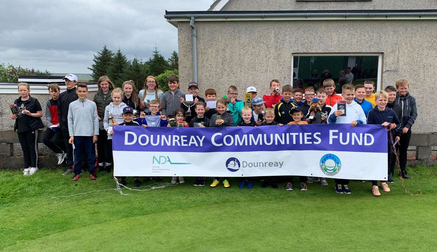 Young golfers show off their prizes after the Thurso Junior Open.